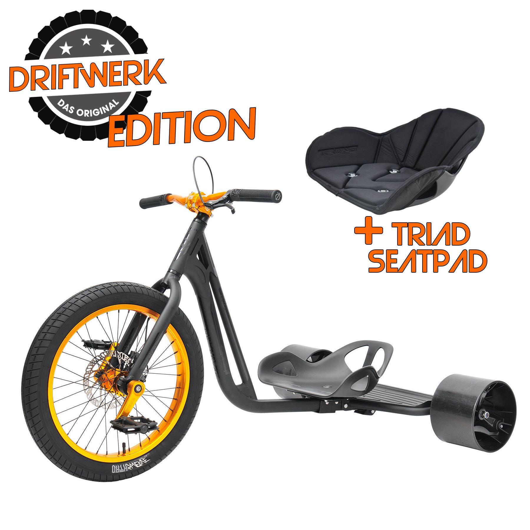 TRIAD Notorious 4 matt schwarz/orange - DRIFTWERK EDITION inkl. Sitzpad