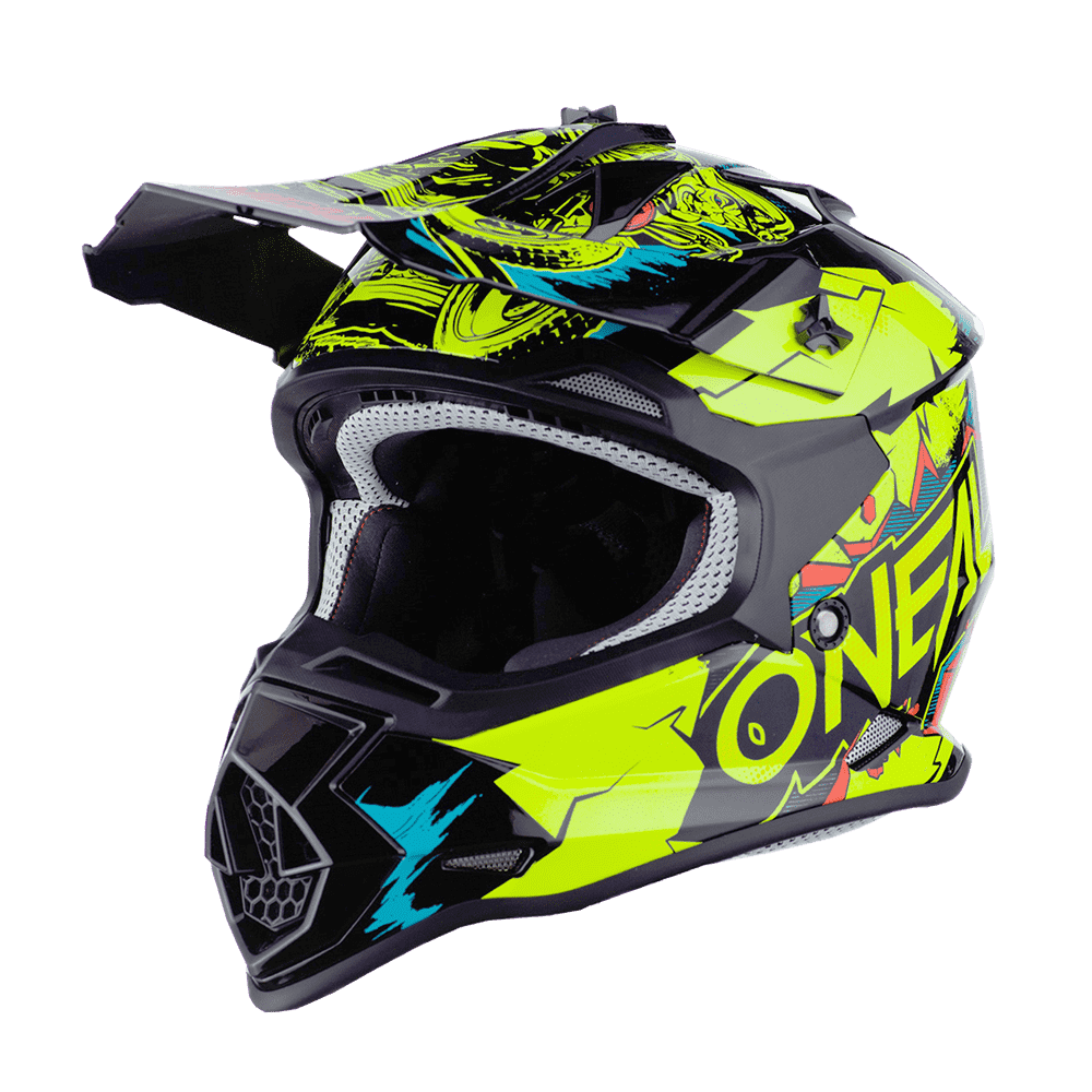 Oneal 2SRS Youth Helmet VILLAIN neon yellow L (53/54 cm)