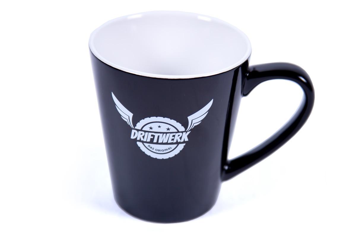 Driftwerk Tasse Kaffeebecher 330ml schwarz/weiß