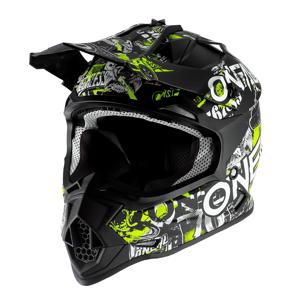 Oneal 2SRS Youth Helmet ATTACK black/neon yellow S (49/50 cm)