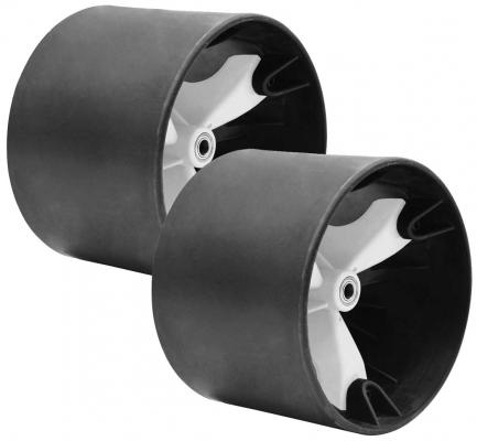 49'er Radsatz Schwarz/Weiß (15mm)